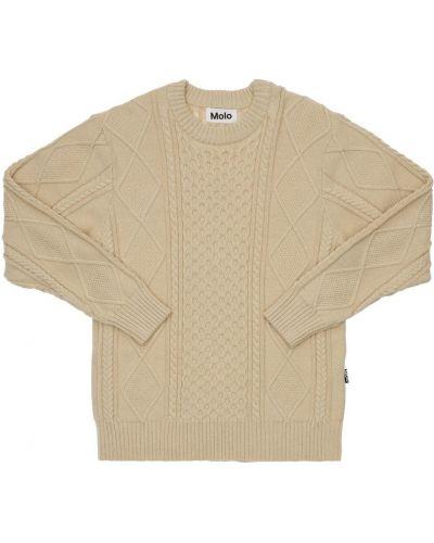 Шерстяной свитер - белый Molo