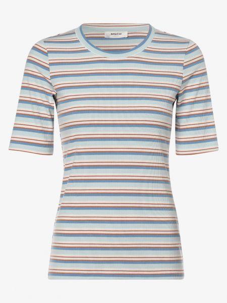 Beżowa koszulka w paski Moss Copenhagen