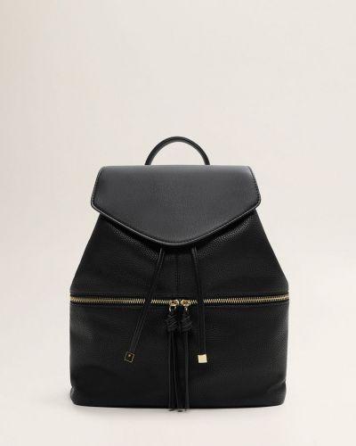Кожаный рюкзак с кисточками Mango