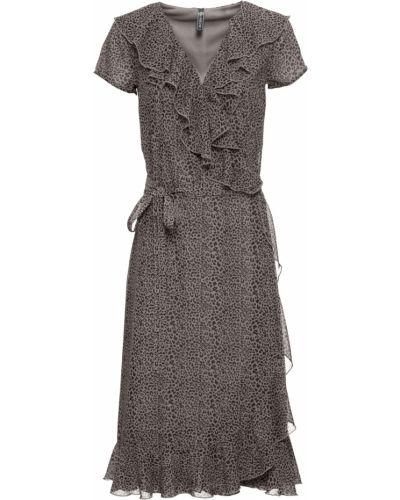 Коричневое платье с запахом Bonprix