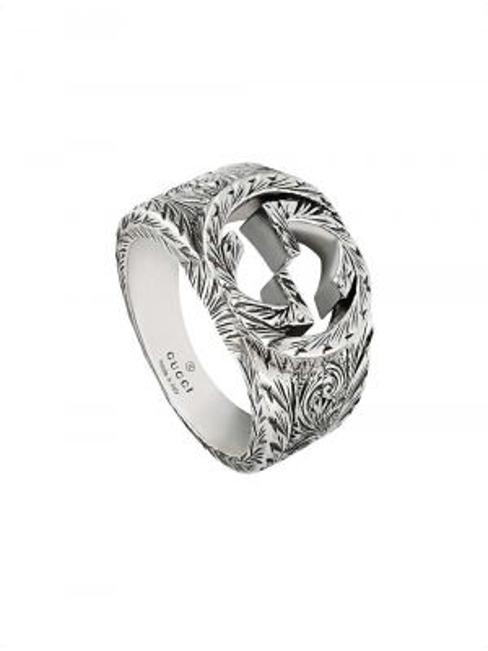 Pierścionek srebrny oversize Gucci