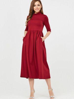Платье бордовый осеннее Vika Ra