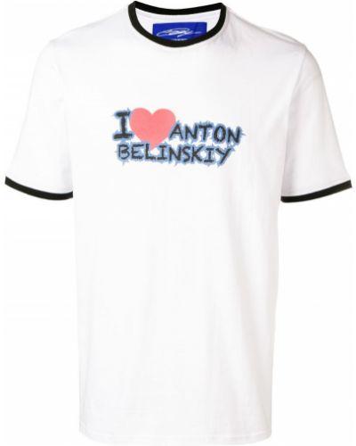 Футболка с принтом - белая Anton Belinskiy