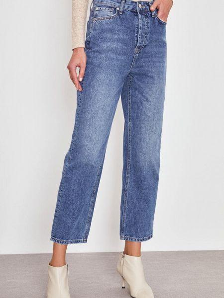 Прямые джинсы синие зеленый Lime