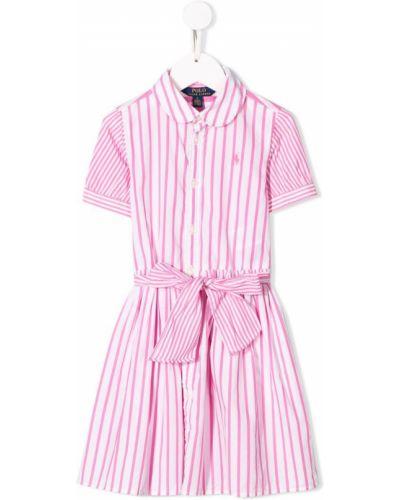 Платье в полоску розовый Ralph Lauren Kids