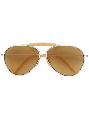 Pomarańczowe okulary srebrne Acne Studios