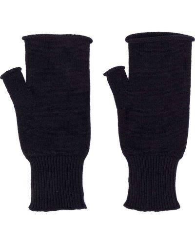 Niebieski trykotowy wełniany rękawiczki Maison Margiela