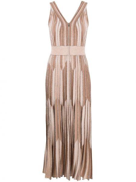 Вязаное платье макси без рукавов с вырезом D.exterior