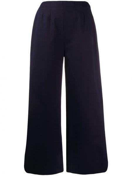 Темно-синие укороченные брюки с поясом свободного кроя с высокой посадкой Alexa Chung