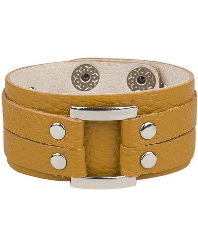 Кожаный браслет на кнопках Franchesco Mariscotti