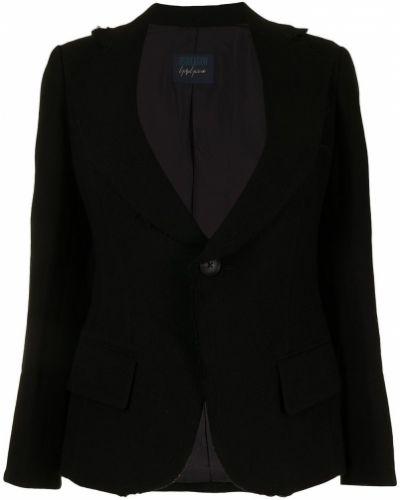 Черный шерстяной пиджак Yohji Yamamoto