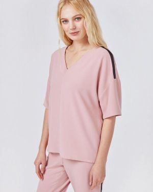 Блузка с коротким рукавом розовая весенний Pompa