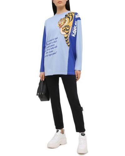 Хлопковый пуловер - синий Kenzo