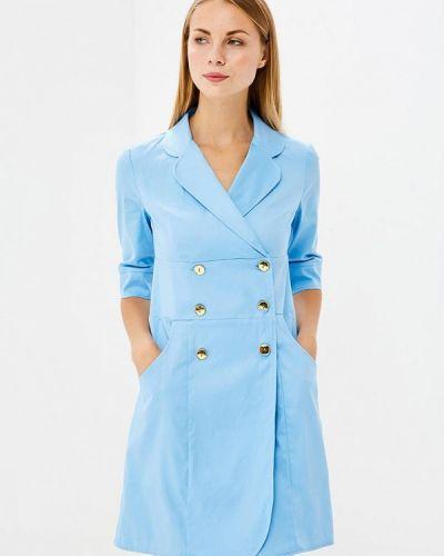 Голубое платье прямое Trendyangel