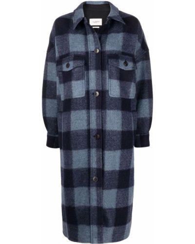 Синее пальто с карманами Isabel Marant étoile