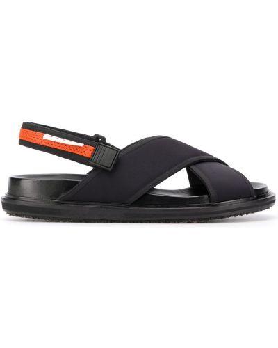 Skórzany sandały na paskach Marni