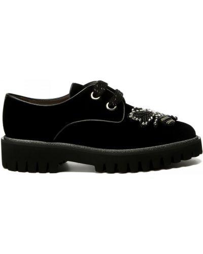 Кожаные туфли закрытые круглые Pertini
