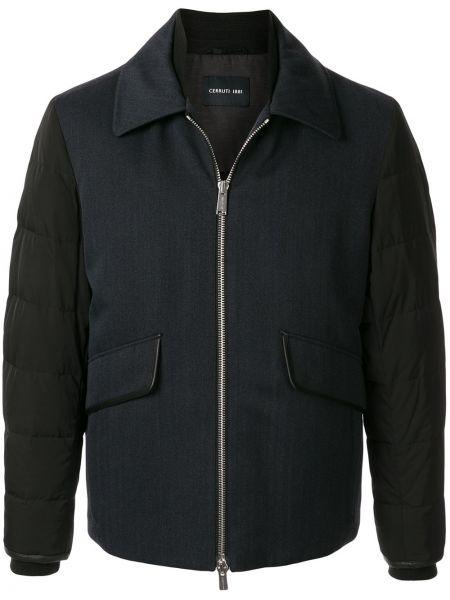 Классическая синяя куртка на молнии с карманами Cerruti 1881
