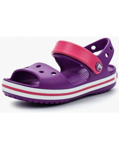 Фиолетовые босоножки Crocs