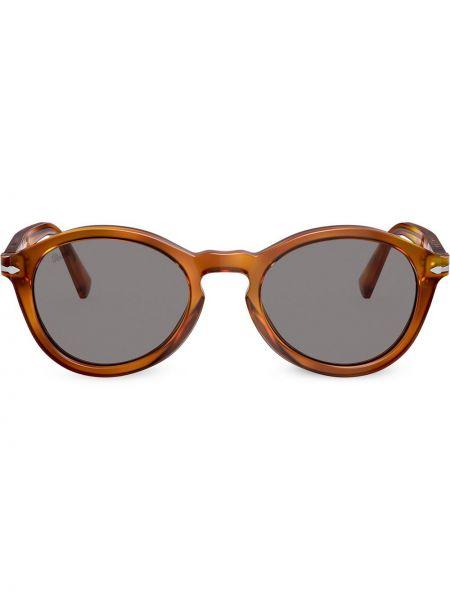 Коричневые солнцезащитные очки круглые Persol