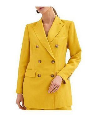 Желтый костюмный костюм из вискозы Luisa Spagnoli