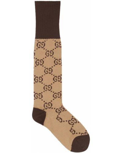 Носки высокие укороченные с узором Gucci