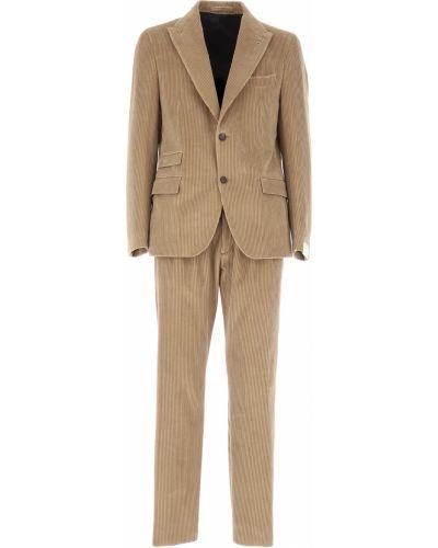 Bawełna bawełna z rękawami kostium garnitur Eleventy