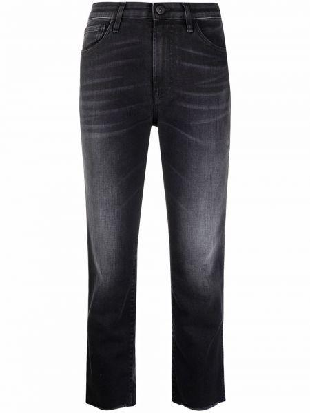 Черные джинсы стрейч 3x1