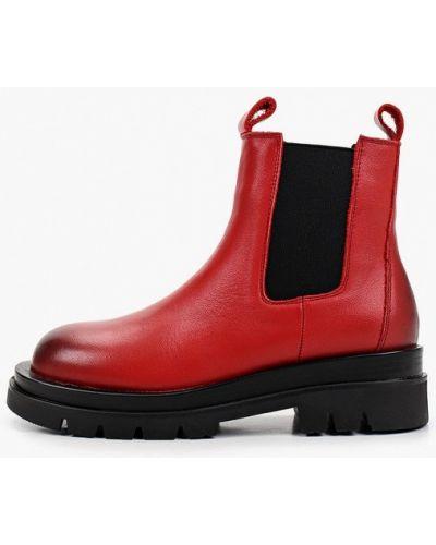 Красные кожаные ботинки челси Sprincway