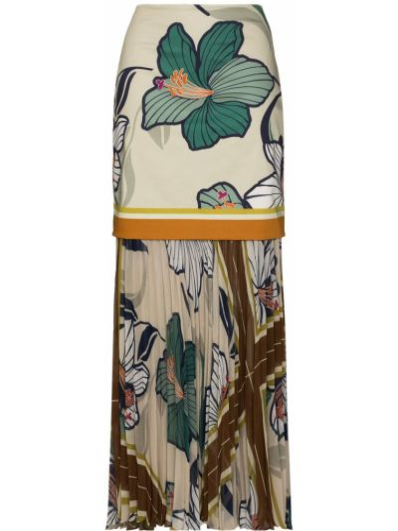 Плиссированная хлопковая юбка макси Silvia Tcherassi
