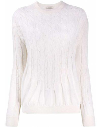 С рукавами белый джемпер с вырезом Nina Ricci