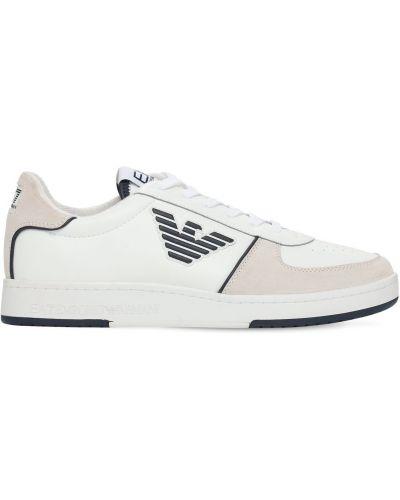 Кожаные белые кроссовки с подкладкой Ea7 Emporio Armani