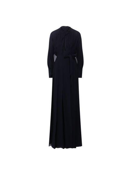Вечернее платье с поясом шифоновое Roland Mouret