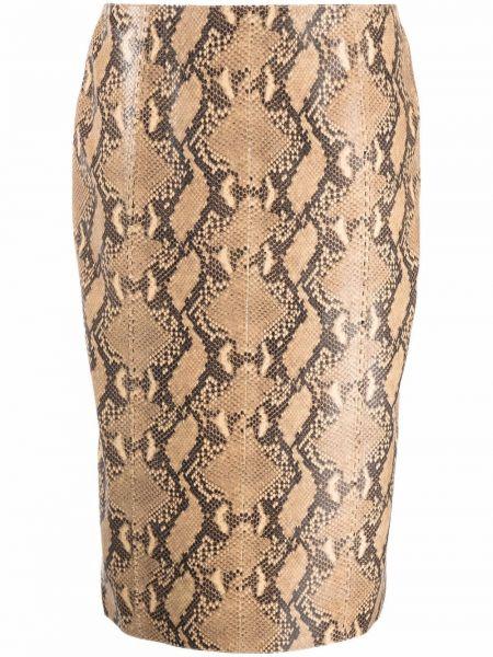 Czarna wężowa spódnica Ralph Lauren Collection