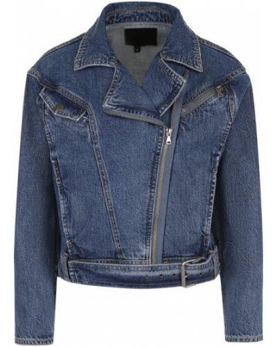 Джинсовая куртка укороченная синий Paige