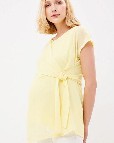 Желтая блузка для беременных Mama.licious