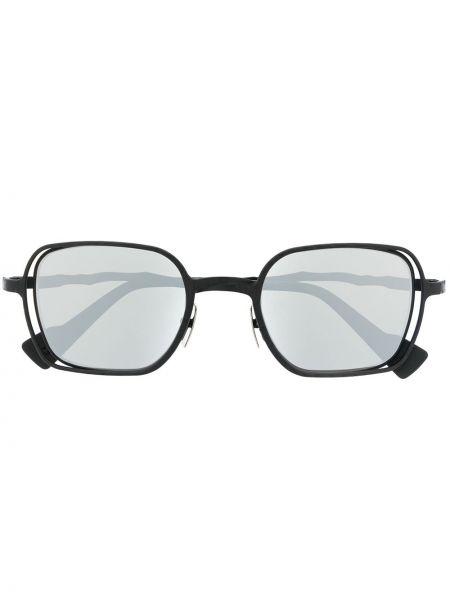 Черные солнцезащитные очки квадратные металлические Kuboraum