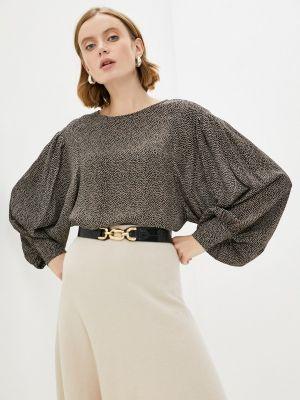 Блузка с длинными рукавами - черная Lusio