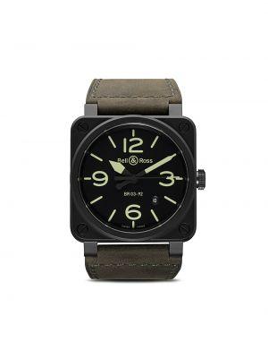 Кожаные черные часы Bell & Ross