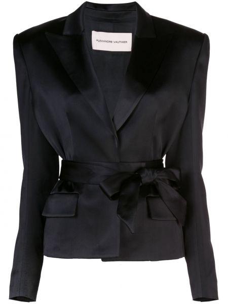 Куртка черная с карманами Alexandre Vauthier