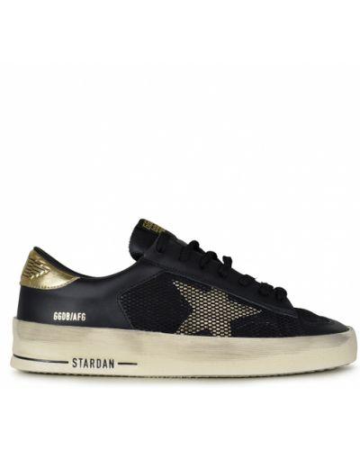 Złote czarne sneakersy Golden Goose