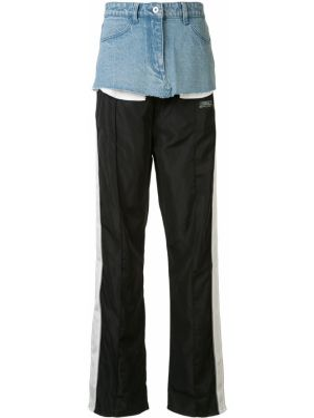 Sportowe spodnie jasny kolor czarne Ground Zero