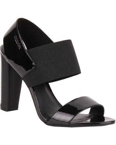 Босоножки на каблуке кожаные Calvin Klein