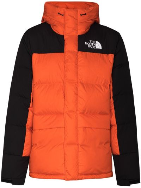 Красная нейлоновая куртка винтажная с перьями The North Face
