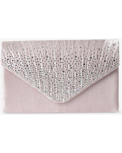 Satynowa różowa kopertówka elegancka Apriori