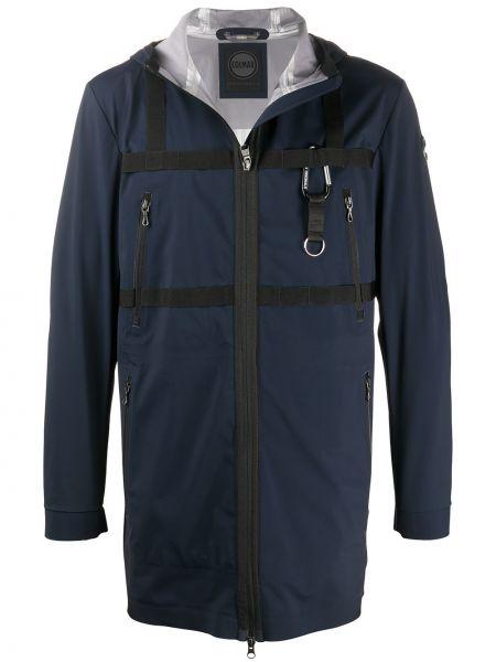 Синее длинное пальто Colmar