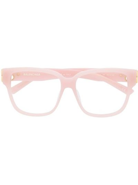 Прямые розовые очки для зрения квадратные Balenciaga Eyewear