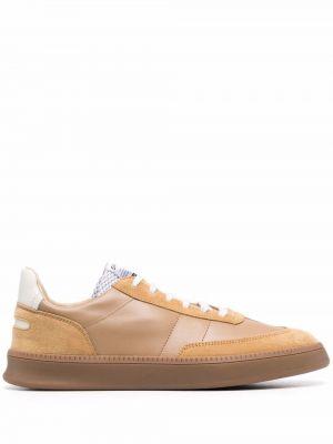 Brązowe buty sportowe na obcasie Spalwart