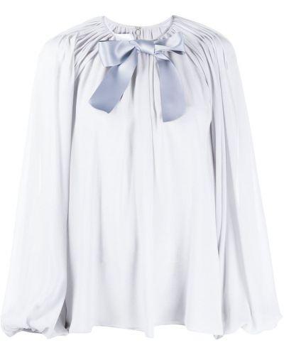 Блузка с длинным рукавом с бантом с драпировкой свободного кроя с вырезом Giambattista Valli