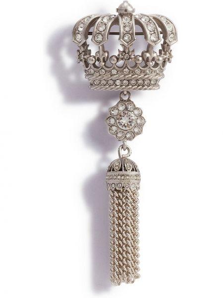 Broszka srebrna Dolce And Gabbana